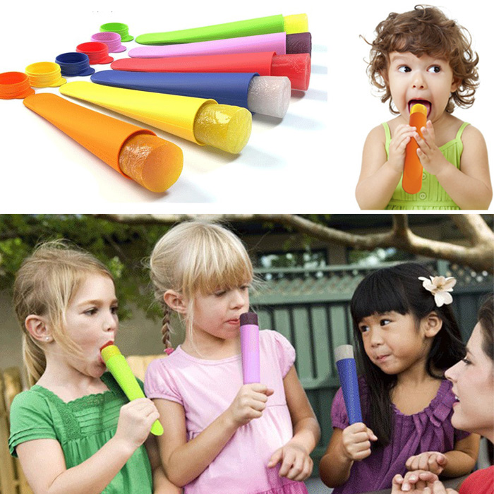 DIY Ice Silicone Ice Lolly Icecream Maker Stick Ice Mold Cool Handheld Popsicle Maker Box Mould Ice Cube Kids