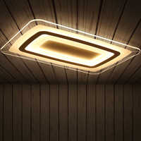 Remote control Surface Mounted Modern Led Ceiling Lights lamparas de techo Rectangle acrylic led Ceiling lights lamp fixtures