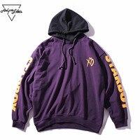 Aelfric Eden Brand Hoodie Patchwork Mens Sweatshirts Hoodies STARBOY Letter Printing Men Hoodie Hip Hop Streetwear