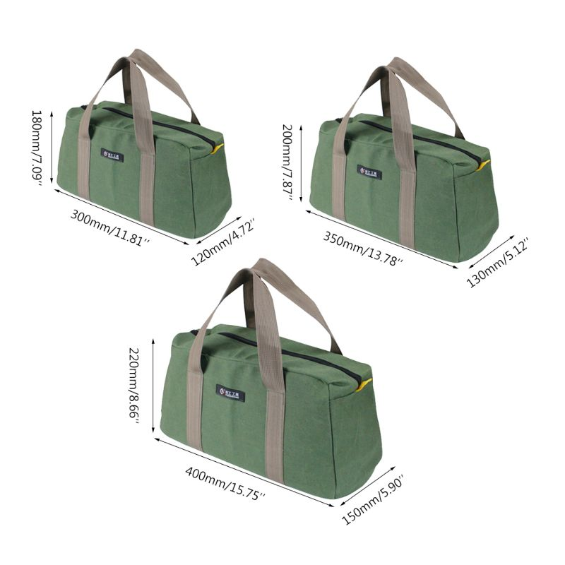 Durable Storage Pouch Hardware Machinist Toolkit Handbag Waterproof Oxford Cloth Zipper Pockets  For Electrician Worker