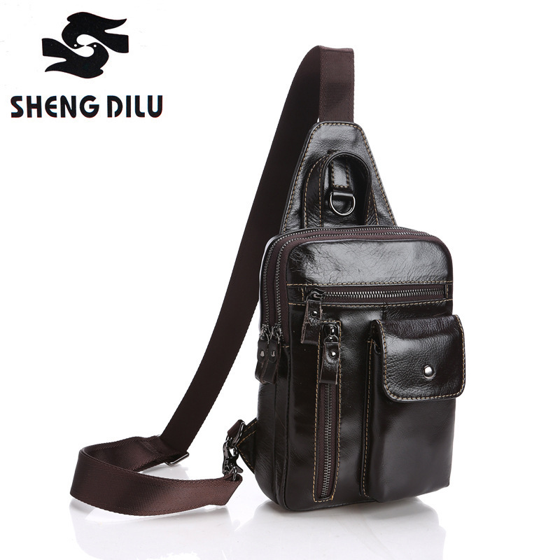 Brand Bag Men Chest Pack Sling Single Shoulder Strap Pack Bag Genuine Leather Travel Bag Men Fashion Handbags Rucksack Chest Bag original typ4112n 31hha 12038 forced air cooling fan