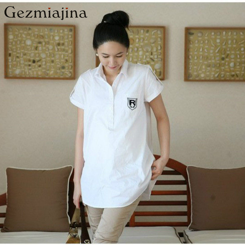 Summer new maternity dress Short-sleeved maternity shirt Pre