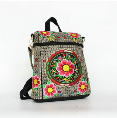 New Embroidery Multi-use Women Shopping bags!Hot All-match Floral embroidery shoulder&Handbags Top Versatile Lady National bags
