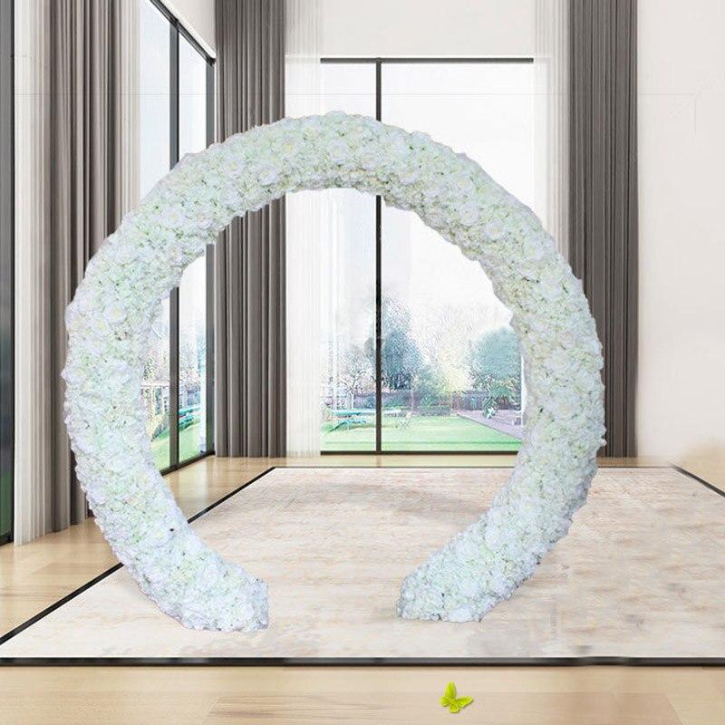 10 teile/los Hochzeit Dekorative Weiß Künstliche Rose Silk Blumen Runner Hochzeit 3D Blume Wand Hintergrund Bühne Dekoration 40x60 cm-in Party-Kulissen aus Heim und Garten bei  Gruppe 1