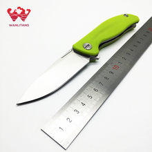 WLT Brand F3 ball bearings Flip Tactical knife 9cr18mov steel blade+ G10 handle  hunting camping knives outdoor tools