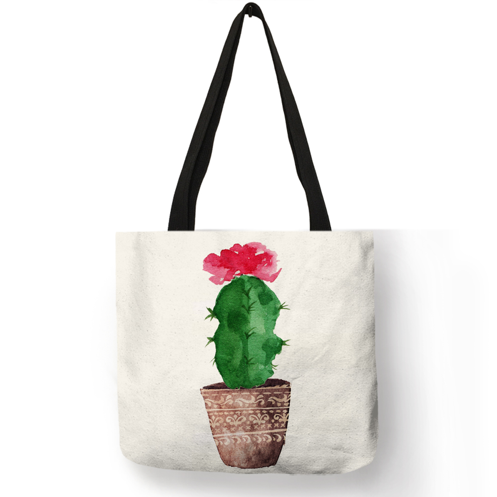 Womens Leather Cactus Plant Handbag Satchel Tote Bag Tote Purse