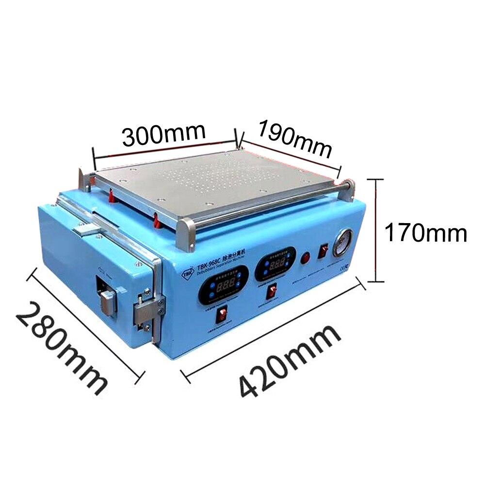 Купить с кэшбэком TBK-968C Bubble Separator Built-in Compressor Vacuum Pump  LCD Screen OCA Autoclave Bubble Remove Machine For ipad Curved Screen