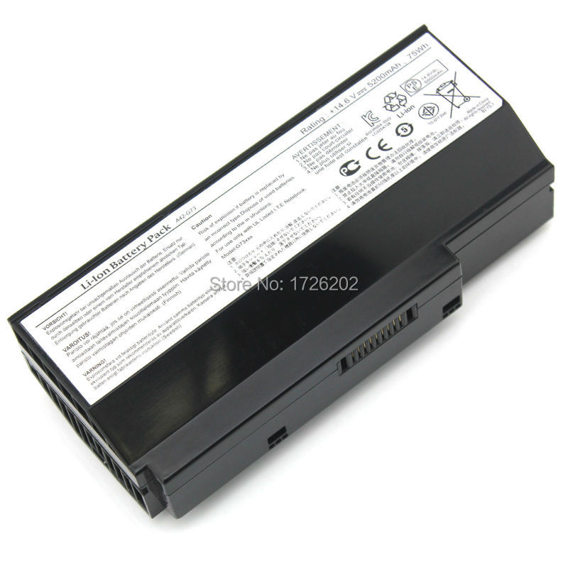 Battery For Lamborghini VX7SX G53JQ G53SV G53SW G73 G73J G73jh G53 series A42-G73 G73JW G73SW 07G016DH1875 07G016HH1875 For ASUS free shipping genuine new lcd cable for asus g73 g73jh g73jw g73j g73sw 1422 00q00asa lvds laptop display cable
