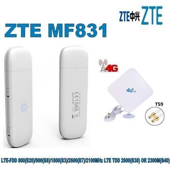 NEW Z T E MF831 4G/LTE/FDD/3G 100MBps Mobile broadband modem UNLOCKED +4g TS9 35DBI Antenna