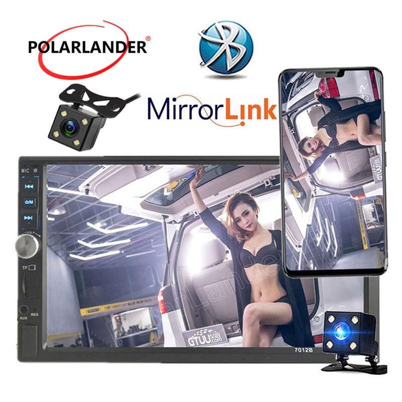 Bandes Auto 7 pouces Autoradio Bluetooth Autoradio 2 din stéréo 2018 12 V MP4 MP5 lecteur miroir Linkradio lecteur cassette