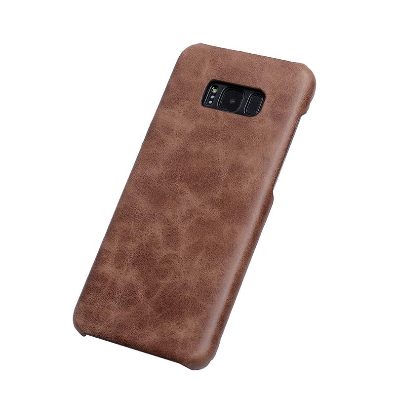 imágenes para Solque Real de Cuero Mate Del Caso Para Samsung Galaxy S8 Más S 8 de Lujo Delgado Natural Cuero Genuino Cáscara Dura Cubierta casos