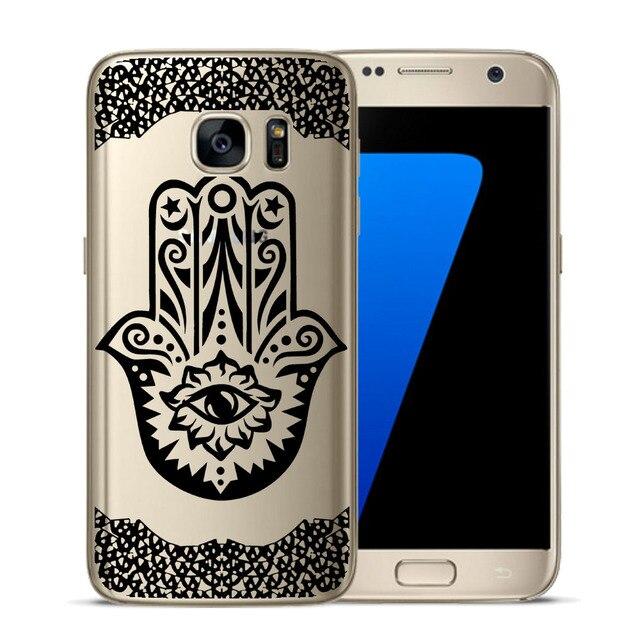 Floral Lace Mandala Design Soft TPU Silicone Phone Back Case Cover For Samsung Galaxy S5 Mini S6 S7 Edge S8 S9 S10 Plus E Coque