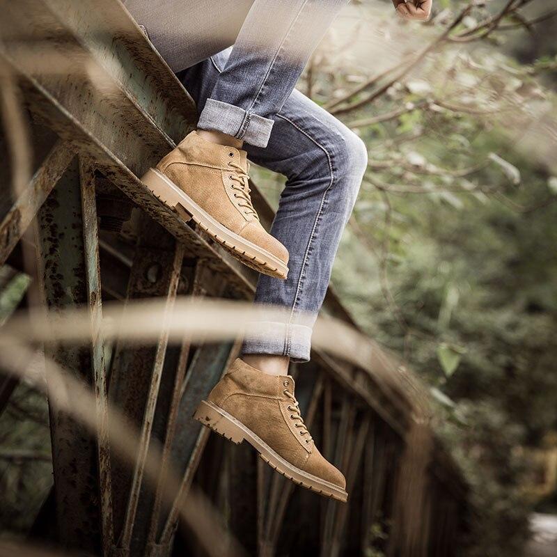 100% QualitäT Männer Booties Winter Echtem Leder Marke Casual Designer Heißer Verkauf Männlichen Stiefel # Mxz8309131 Weich Und Rutschhemmend
