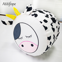 Inflatable chair PVC inflatable stool for cows cartoon animal sofa embroidered childrens chairs baby with velvet bag