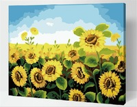 Frameless Digital Painting Paint By Numbers Abstract Drawing Acrylic Paintings Home Decor Wall Artwork Sunflower