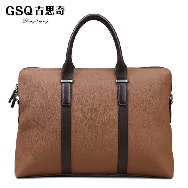 Gsq autumn new arrival man bag commercial male messenger bag handbag briefcase