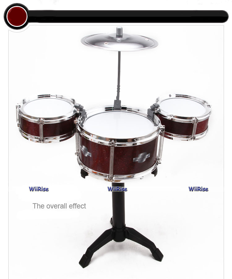 Toy Drum Set Jazz Music Cute Lovely Gift 5pcs Set Rock Roll Toy Drum