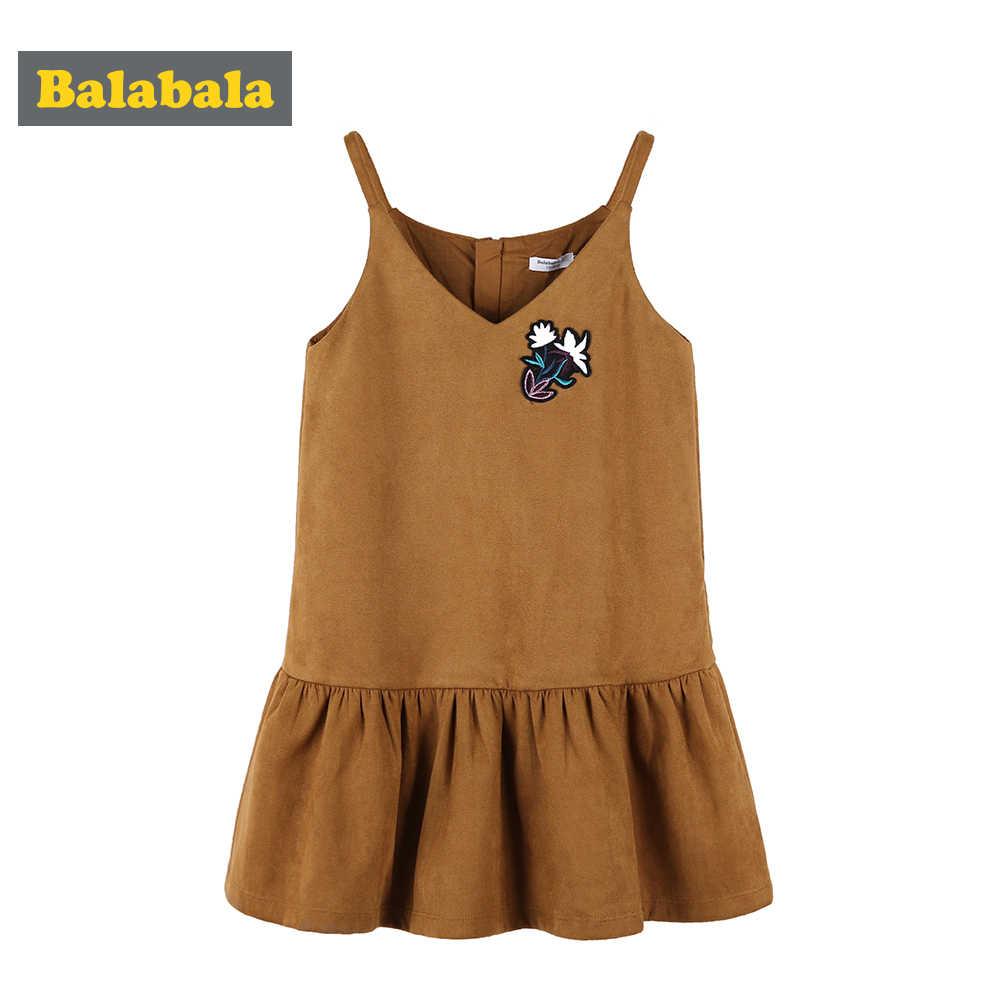 Balabala 2018 秋の新プリンセス韓国絶妙な女性のドレス子供のためのパッチとげ女の子かわいいハート子