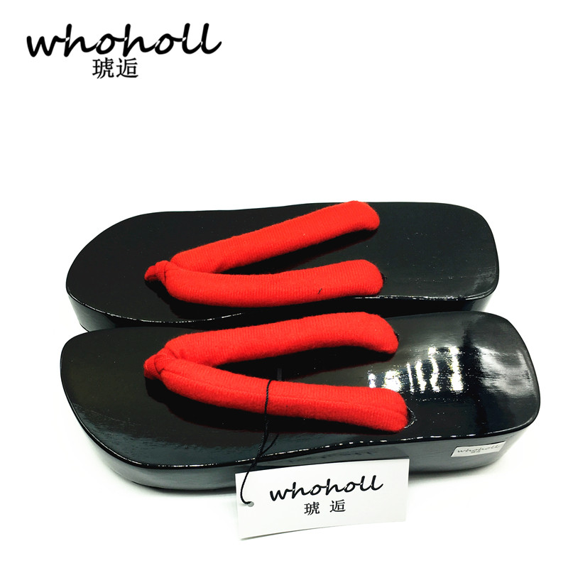 Onmyoji Homme Tongs Couple Sabots Noir Whoholl D'été rouge Sandales Cosplay Mâle Chaussures Bateaux Japonais Geta p1ZpawYX8
