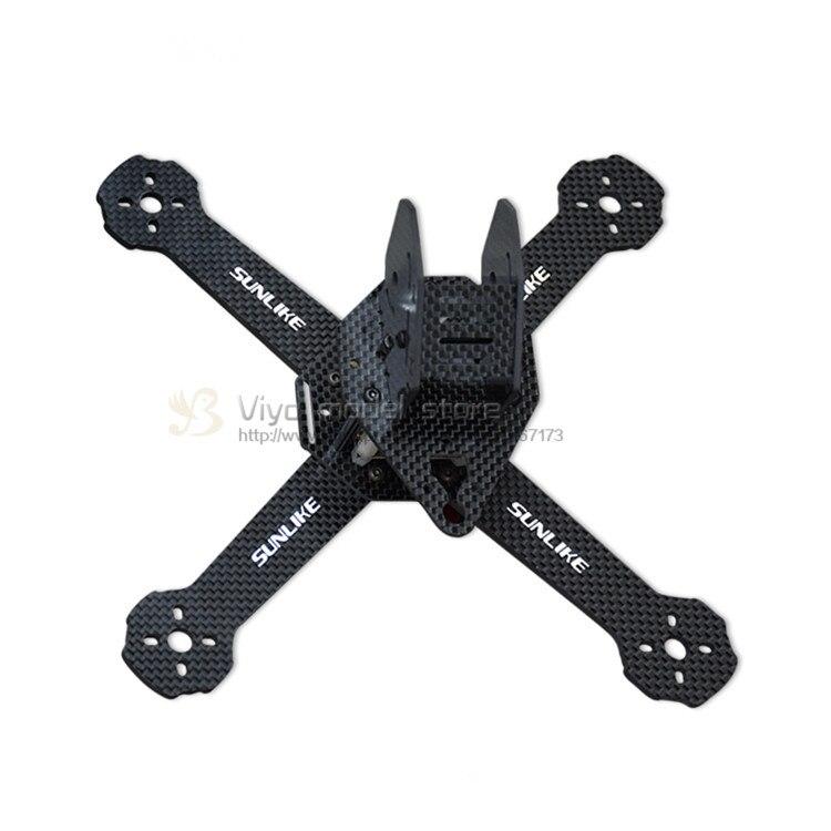 DIY FPV mini racing drone SL210-X quadcopter 3K pure carbon fiber frame for QAV-X QAV210 frame T5045 V2 propeller 220mm high speed 3k carbon fiber 220x qav r qav220 mini fpv rc racing drone quadcopter with f4 flight controller