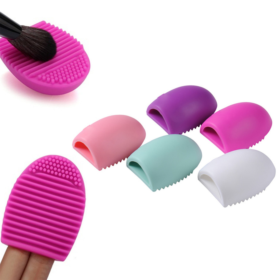 Fashion 1pc Personal font b Makeup b font font b Brush b font Cleaner Finger Silicone