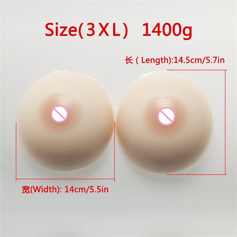 Silicone Breast Forms Cosplay Fake Breasts 1400g/Pair Drag Queen Crossdresser Shemale Boobs Enhancer Classic Round 1200g dd cup boobs for drag shemale transgender prosthetic breasts cups for dresses silicone fake breast