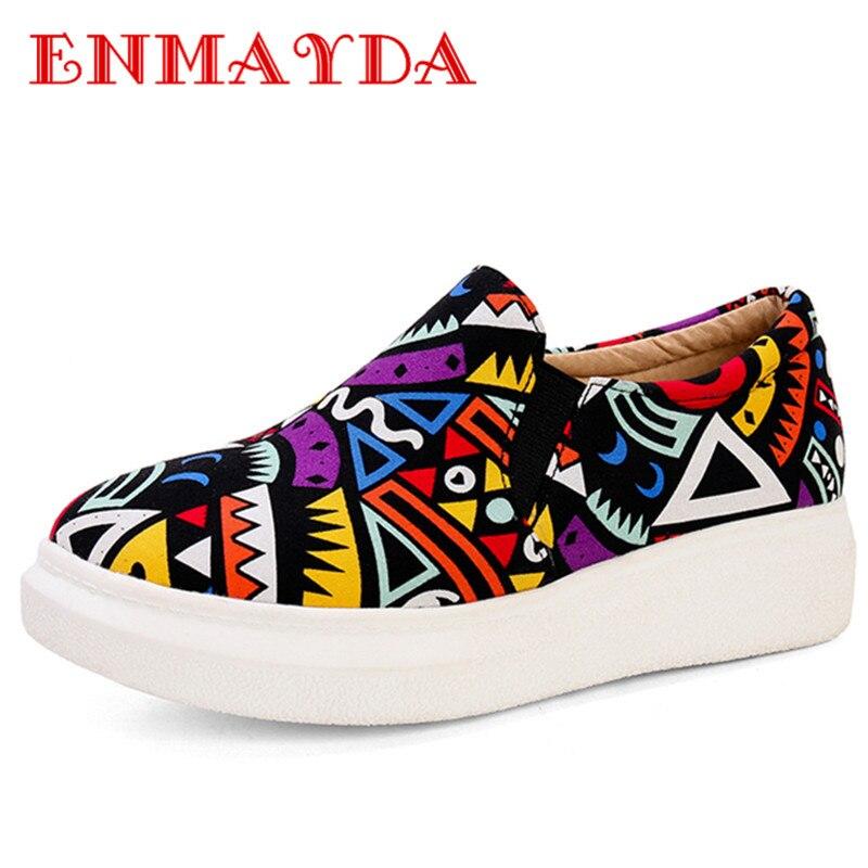 ENMAYDA font b Women b font Spring and Autumn Print Shoes font b Woman b font