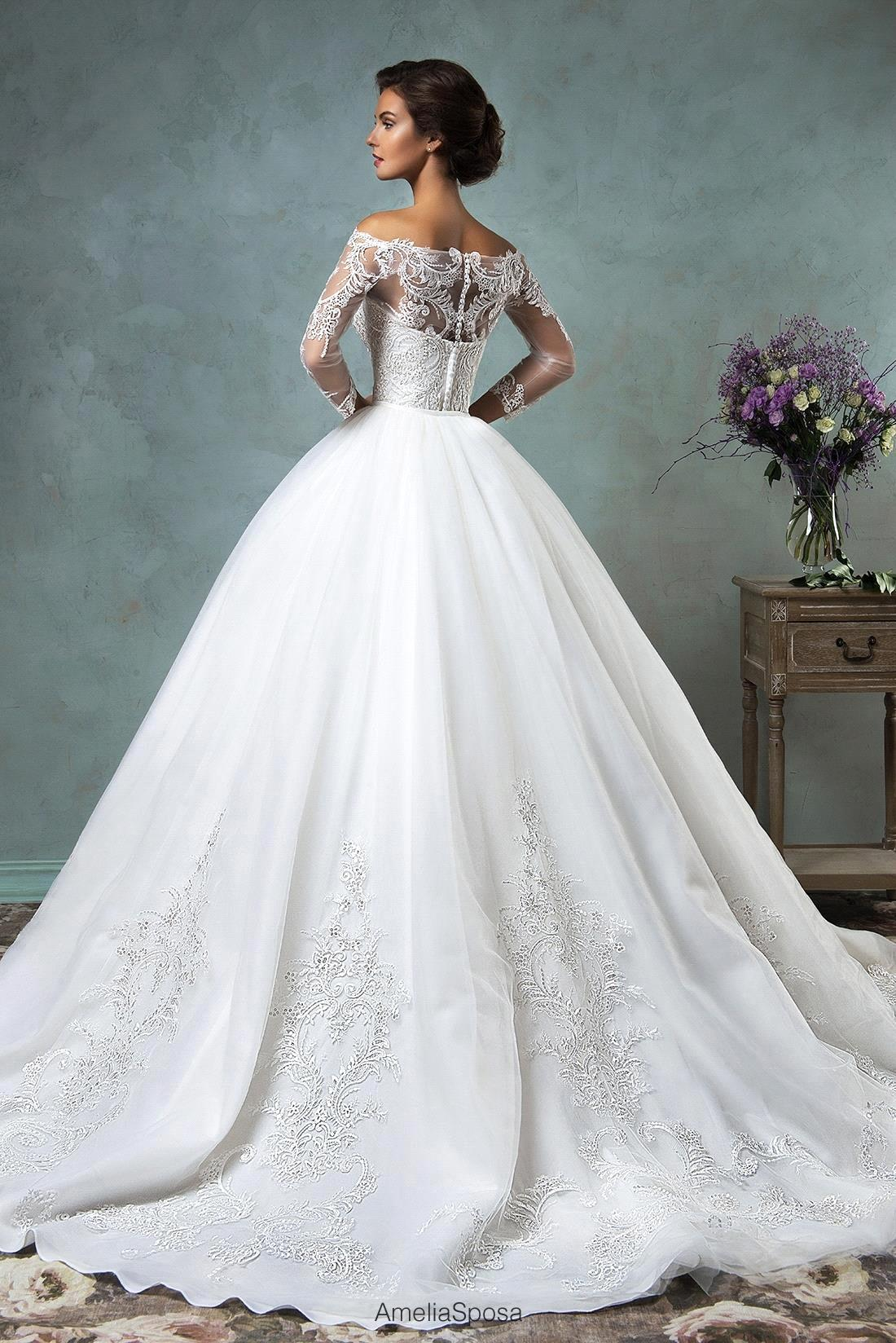 Aliexpress.com : Buy 2017 Elegant Wedding Dress With Sleeves Off ...