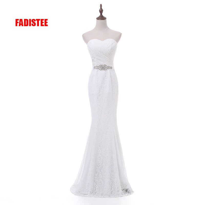 New Arrival Elegant Wedding Party Dresses Lace Vestido De Festa Mermaid Crystal Sashes Sexy Backless Long Gown