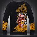 Chinese style Beautiful personality carp pattern printing quality sweater 2016 Autumn&Winter fashion boutique sweater men M-XXXL