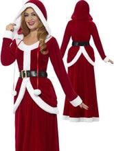 034750cd0f Mujeres Deluxe Miss Santa Claus traje mujeres sexy Santa Claus vestido Maxi  navidad roja dulce traje del vestido de lujo