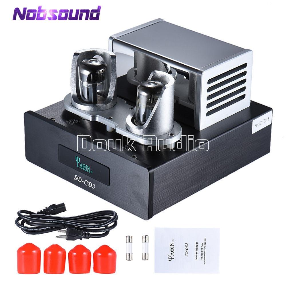 Nobsound HiFi SD CD3 6N8P Tube Voorversterker Signaal Upgrade Hoogwaardige Tube Buffer Processor Voor CD/Dvd speler-in Versterker van Consumentenelektronica op  Groep 1
