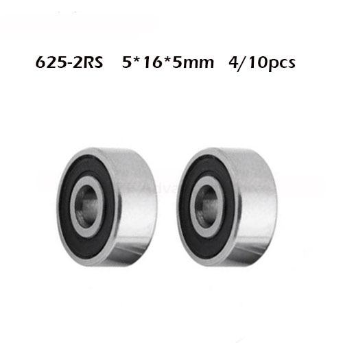 625RS Bearing ABEC-1 ( 4/10 PCS ) 5*16*5 Mm Miniature Sealed 625-2RS Ball Bearings 625 2RS For VORON Mobius 3D Printer
