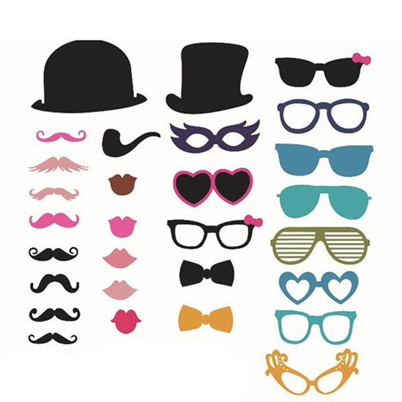 New 36pcs On A Stick Mustache Photo Booth Props Wedding Birthday Party Fun Favor free shipping oxford material wedding party decoration inflatable the photo booth