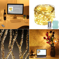 66FT 20M 200LED 8Modes Silver Wire Battery Operated Led String Light Chrismas Outdoor Fairy Lights Decoration