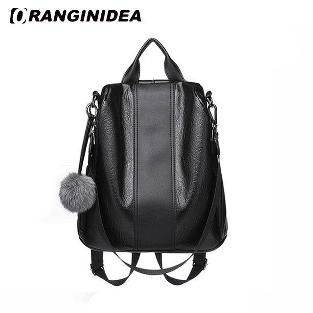 9bef40efd5cd 2018 Fashion Women Backpacks PU Leather backpack Shoulder Bags Daypack for Women  Female Rucksack Retro Feminine Mochila 321