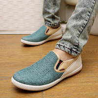 Hot Sale Summer 2016 England Men S Flats Fashion Slip On Canvas Shoes Men Driving Loafers