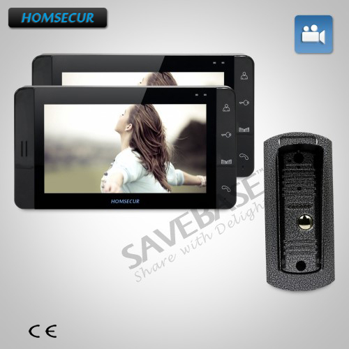 HOMSECUR 7 Video Door Entry Phone Call System+Black Monitor for House/Flat 1C2MHOMSECUR 7 Video Door Entry Phone Call System+Black Monitor for House/Flat 1C2M