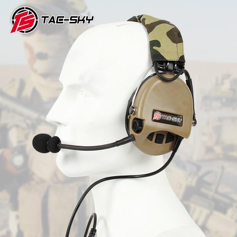 TAC-SKY TCI LIBERATOR II Silicone Earmuff Version Noise Reduction Pickup Headset -DE