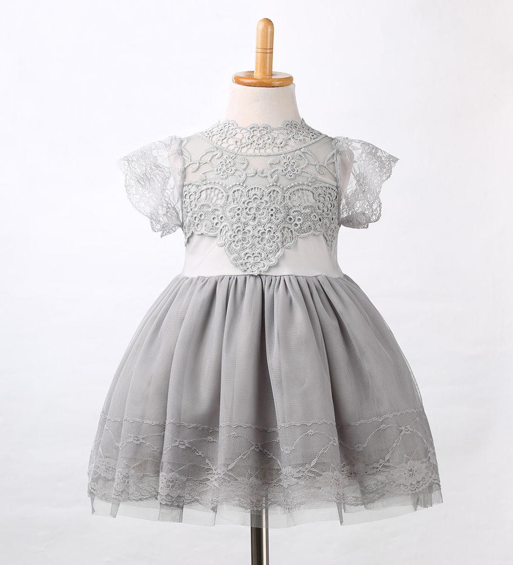 Princess Party Clothing Lace Pink White Floral Tulle Tutu Dresses  New Children Flower Girls Kid BabyClothes Dress Girl Summer new arrival girls sleeveless summer tutu dress 3 12years toddler teenage boutique clothing fancy dresses blue purple pink white