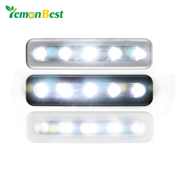 lemonbest mini draadloze muur light kast lamp 5 led nachtlampje home verlichting voor onder keukenkastjes