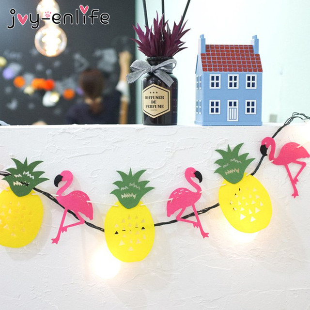 JOY-ENLIFE 1set Flamingos Pineapple Garland Banner Decor Brace Birthday Party Decor Adornment Wedding Party DIY Decorative Craft