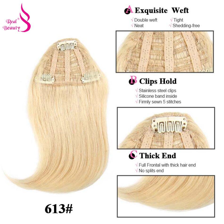 Aplique de cabelo humano reto, beleza real,