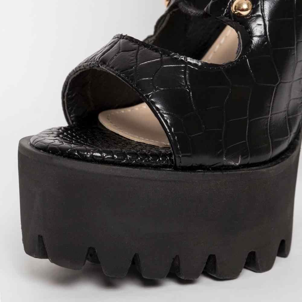Perixir ผู้หญิงรองเท้า Cross-tied PU หนังส้นสูง BOOT กว่าเข่า Lace Up รองเท้าเซ็กซี่รองเท้าผู้หญิง