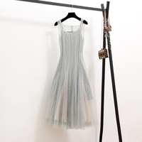 New 2019 temperament of restoring ancient ways is sleeveless with shoulder straps of fairy long veil