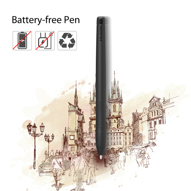 HUION H430P Digital Tablets Signature Graphics Drawing Pen Tablet OSU Game Tablet with Battery-Free Pen