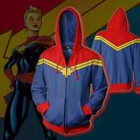 Cosplay Costume Red Blue Zipper Marvel Captain for Men's Guard Black Line Clothes 3D Digital Printed Jacket Underwear Plus S 5XL