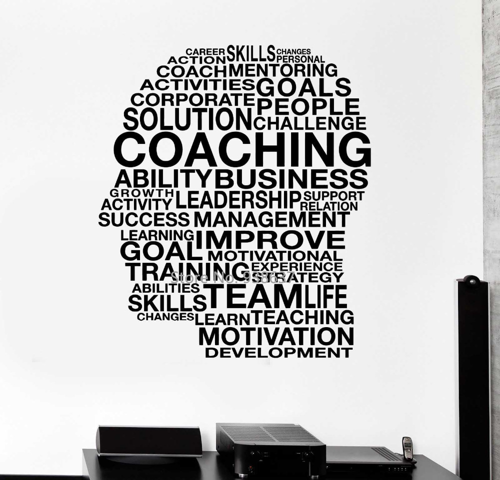 Motivation Vinyl Wall Decal Words Coaching Skills Office