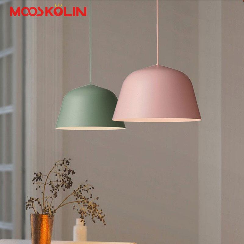 Modern Nordic Simple Pendant Lights Aluminum Pendant Lamps Led Light Fixture Restaurant Kitchen Light Pendant Colgantes