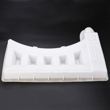 Plastic Garden Fence Mold White Concrete Molds Garden